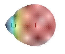 Lithium iodide electrostatic map