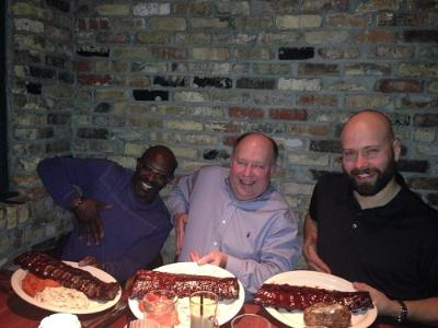 The right rack of ribs. [From left]: Robert, Ron, Richard