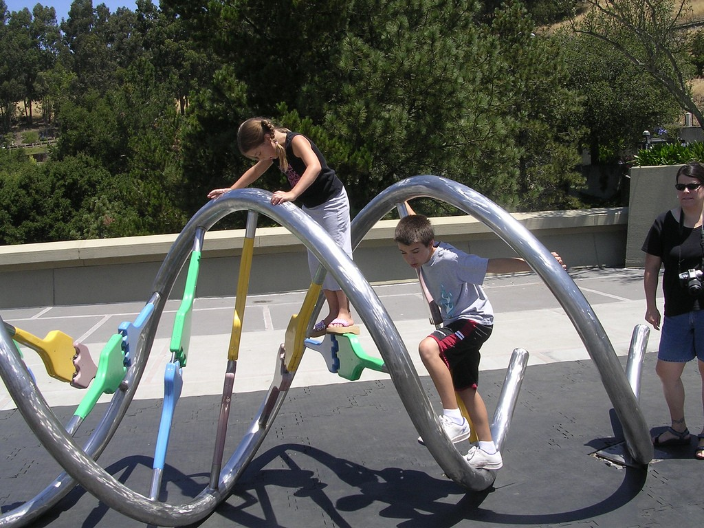 Children with a helix on a helix