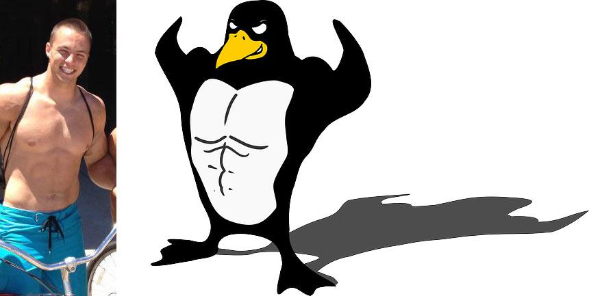 Ethan Grossman = jacked penguin
