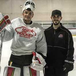 Tyler Parsons with coach Robert Liddell
