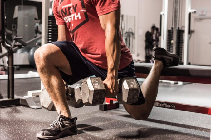 Hurt knees tend to do better with single leg exercises.