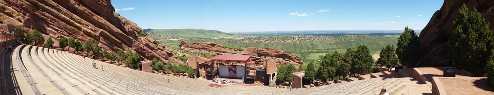 Red Rocks Ampitheater in Denver, Colorado.