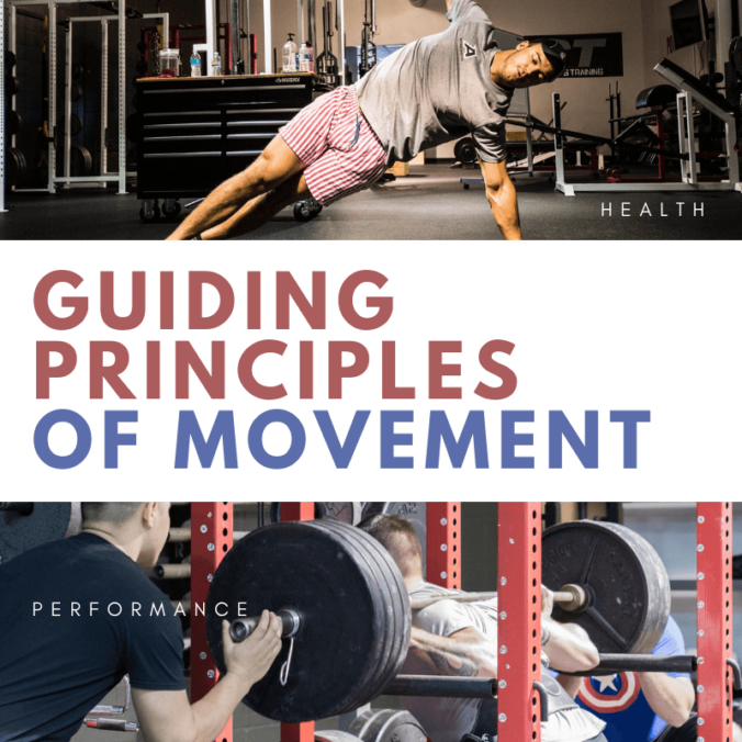 T-Push Up and Heavy Squat - Comparing guiding principles of movement for health and performance
