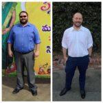 Jason Davidson fitness progress side-by-side comparison